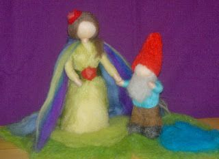 Personalized gifts, proyect for a kindergarden: Fairy & Little dwarf from the pond, Handmade, Waldorf inspired.