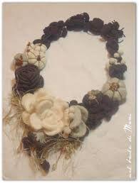 Risultati immagini per collane di lana e pietre