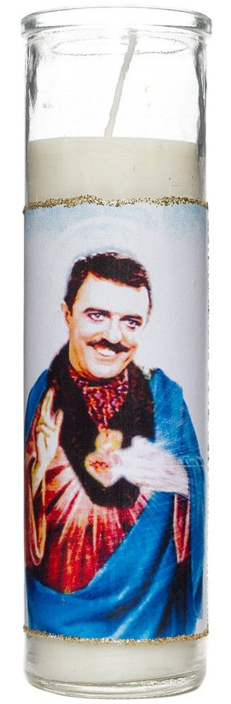 SAINT GOMEZ ADDAMS PRAYER CANDLE  Looking for the Gomez for you inner Morticia? Light this Saint Gomez candle and get lucky in love!