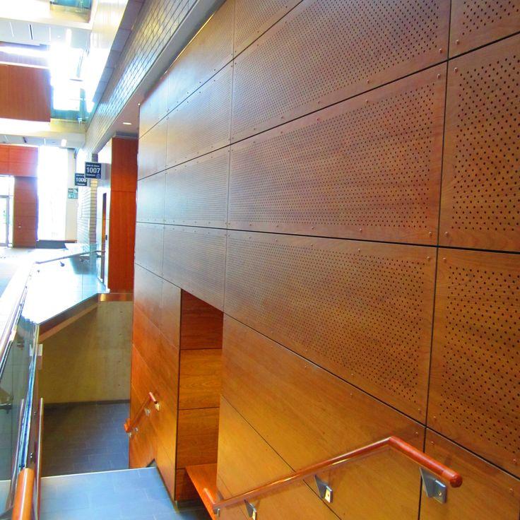 Project: University of Ottawa Location: Ottawa, ON Product: Parklex Facade, Perforated Cherry