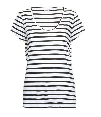Tia Stripe Scoop Tee - Tops - SABA Online Clothing
