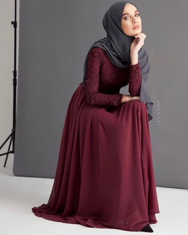 INAYAH | Embody feminine simplicity and majestic style. Designed in a dark berry hue, this gown is perfect for your special occasions this season. Dark Berry Maya Evening Gown www.inayah.co