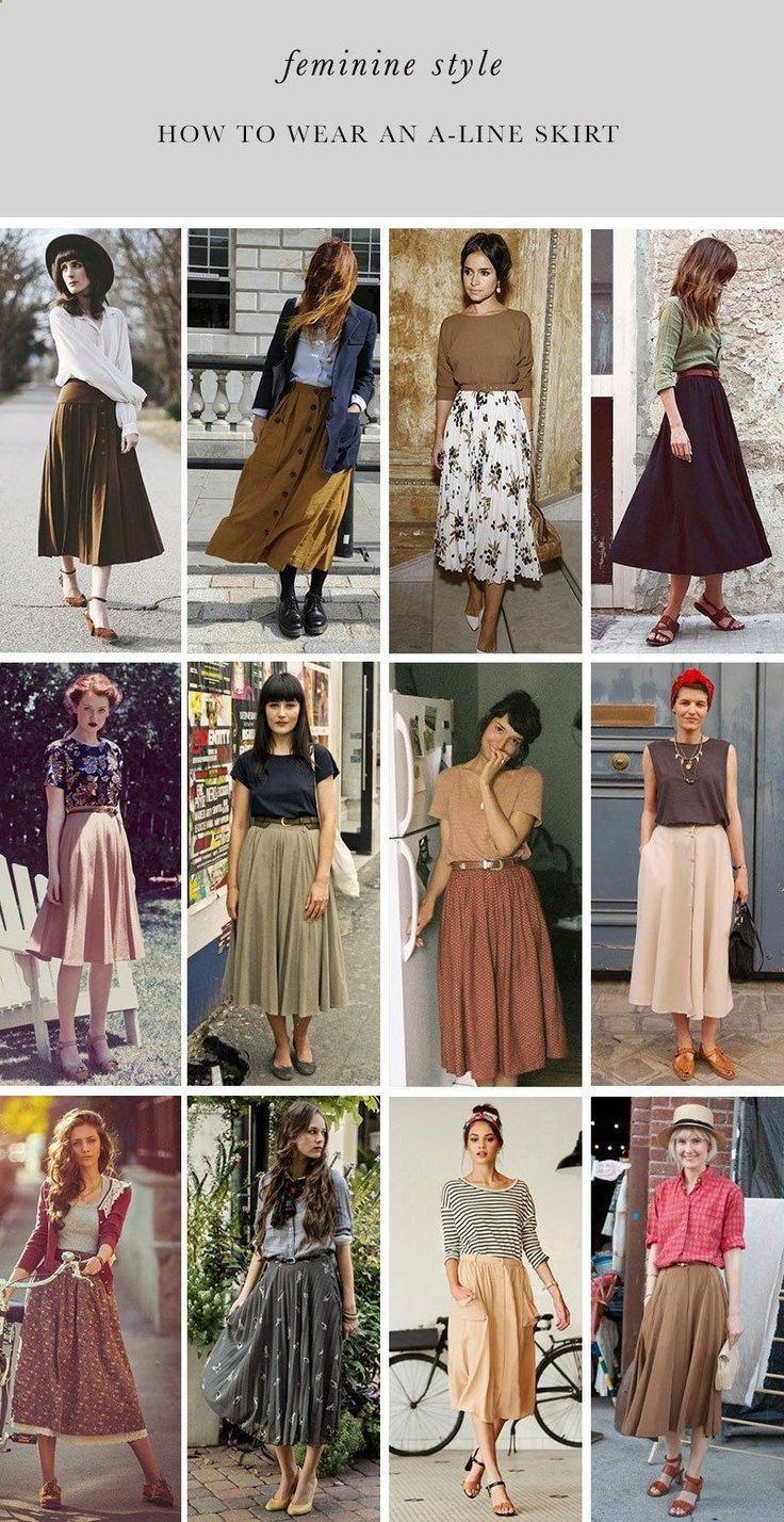 Women's Skirts - #womensskirts  - How to Wear an A-Line Skirt Womens Fashion Hig...