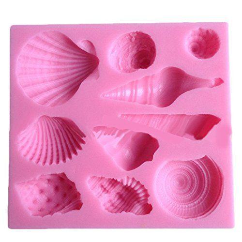 Elinka Cute Romantic Seashell Sea Shell Silicone Cake Mould Chocolate Fondant Mold - http://bestchocolateshop.com/elinka-cute-romantic-seashell-sea-shell-silicone-cake-mould-chocolate-fondant-mold/