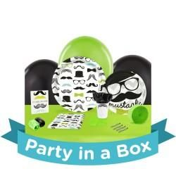 Mustache Man Party in a Box For 8