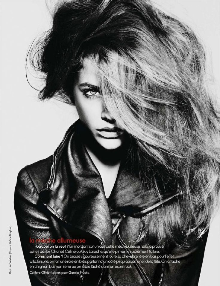 my hair could look like this, somehow. and i'd slap a stranger for that jacket. (Barbara Palvin for Elle France September 2011)