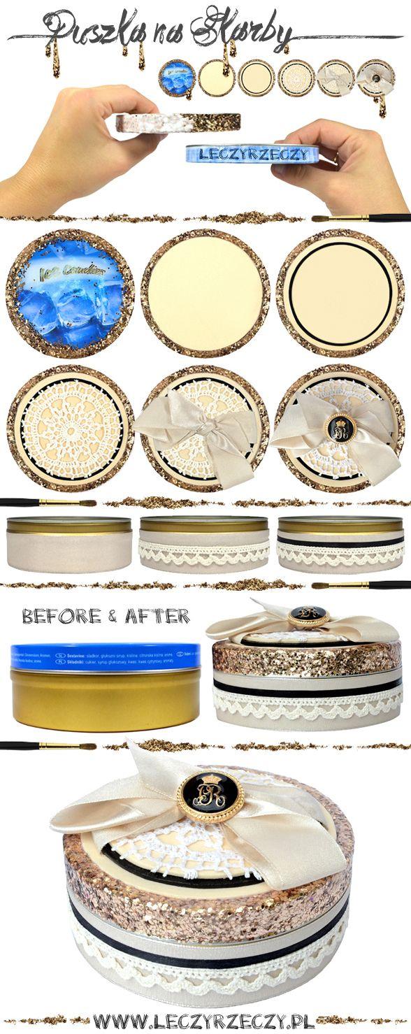 MORE - http://www.leczyrzeczy.pl    diy, handmade, zrób to sam, tutorial, easy diy, diy can, recycling, rękodzieło, craft,