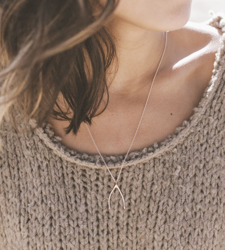 Wishbone Necklace by Christina Kober Designs on Scoutmob