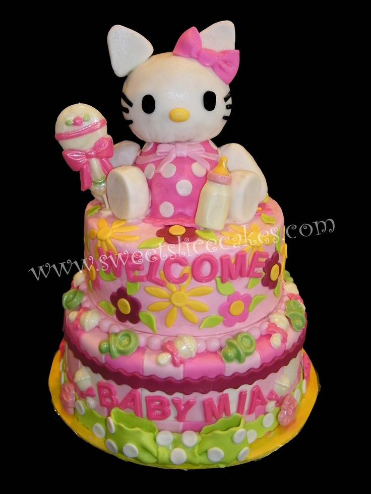 Hello Kitty Baby Shower Cake. All Edible!