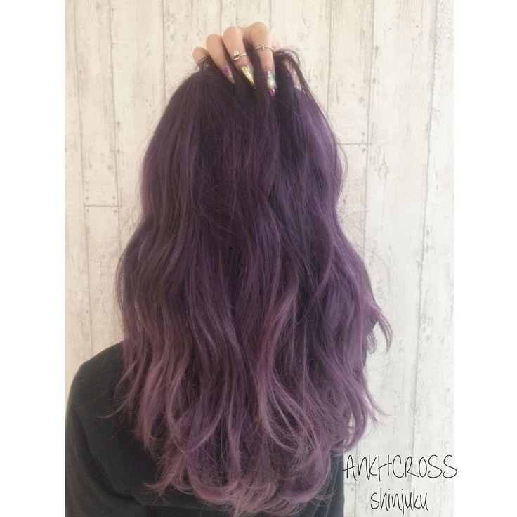 パープルヘアー @maritacho #ankhcross #ヘアカラー #カット #ヘアアレンジ #サロン #サロンモデル #美容師 #美容室 #グラデーションカラー #アッシュ #クォーターメッシュ #グラッシュ #シェルカラー #アップ #セット #ヘア #グレージュカラー #シールエクステ #スタイル写真 #作品撮り #外国人風カラー #cut #haircolor #hairarrange #set #beauty #hairstyle#purplehair