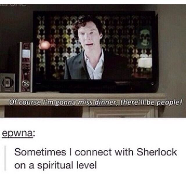 I do connect with Sherlock on a spiritual level #Sherlock - Many Happy Returns
