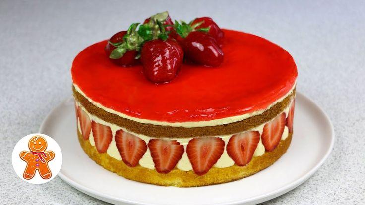 """Клубничный торт """"Фрезье"""" (Fraisier Torte / Fraisier Cake)"""