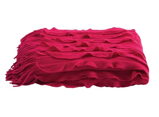 KAS Ripple Throw in Magenta, available at Forty Winks.