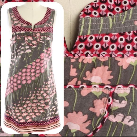 """⚡️FLASH SALE⚡️HP!✨ Free People Dress Adorable Free People dress with Rick rack detailing at neckline and hem. Like new condition - no flaws. 30"""" long.  Stock pic from Lyst. Free People Dresses Mini"""