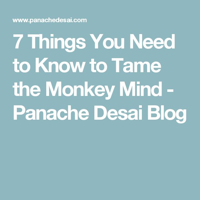7 Things You Need to Know to Tame the Monkey Mind - Panache Desai Blog