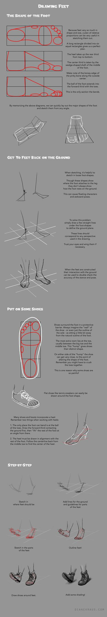 http://dianethekraus.deviantart.com/art/Drawing-Feet-and-Shoes-Tutorial-512156896