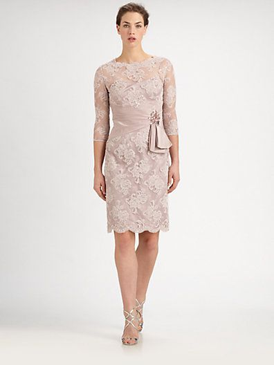 Mother of the Bride Teri Jon - Beaded Lace Dress - Saks.com