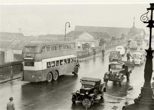 Pyrmont Bridge in Sydney in 1947.
