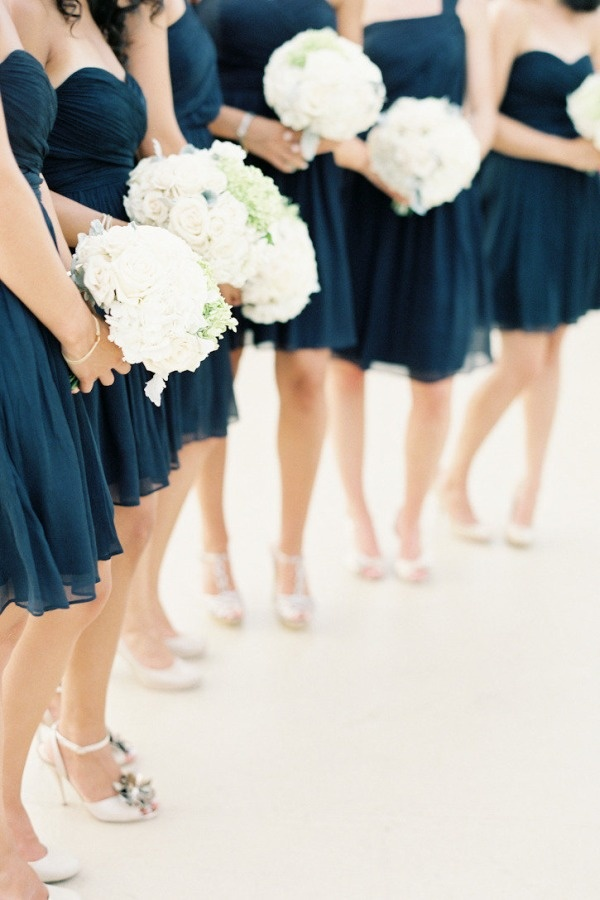 13 best images about navy and white on pinterest white for Navy blue and white wedding dress