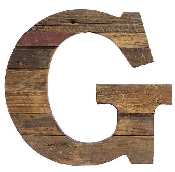 Cypress Barnwood Letter G   Paul Michael Company Recycled Wood