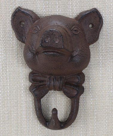 Pig Cast Iron Wall Hook by Young's