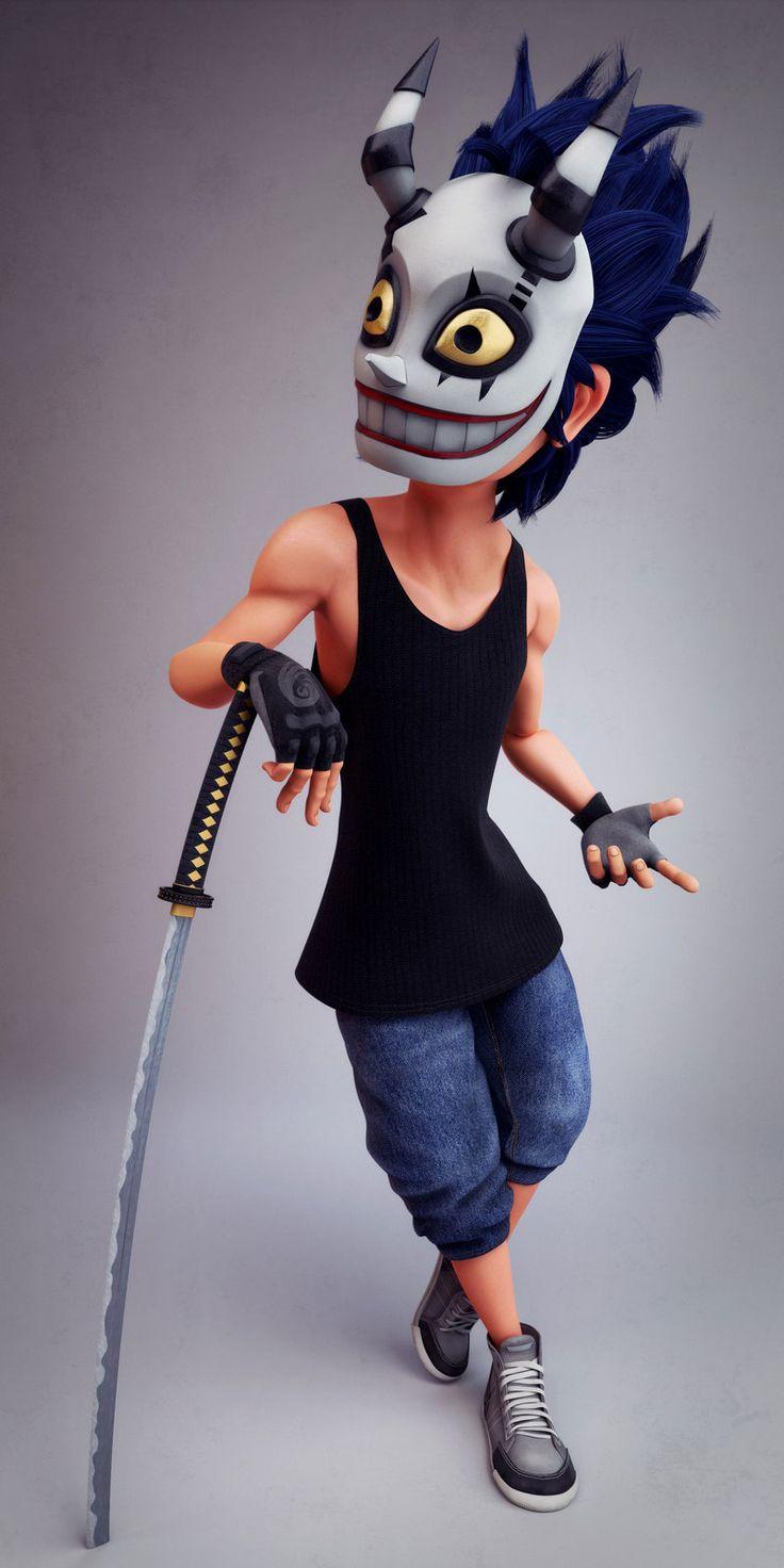 Masked Man, Ludovic LIEME on ArtStation at https://www.artstation.com/artwork/masked-man-1573c6dc-b17f-48c5-b6b3-1a06c3352c19