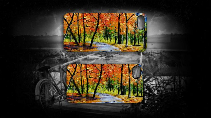 'Autumn Path' by Sally Ford. #Autumn #Trees #Road #Seasons #iPhone  #Art #Cases #Artmobilis
