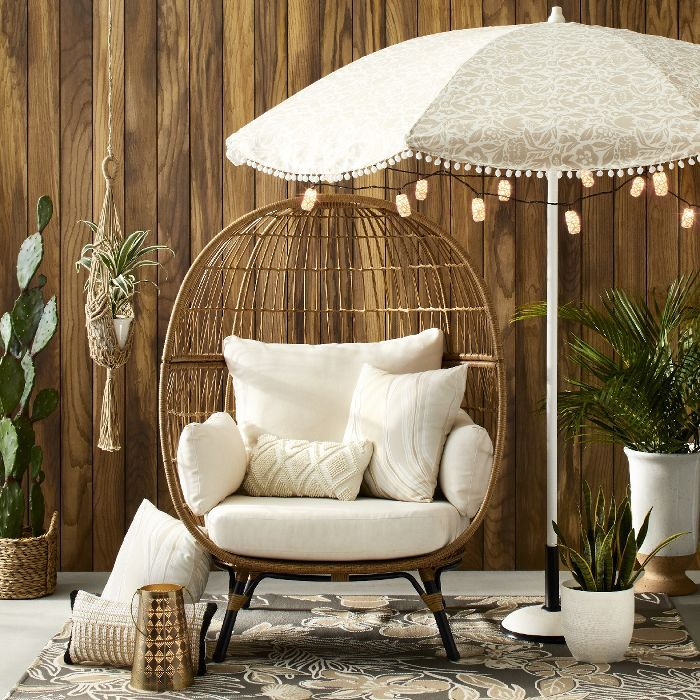 Southport Patio Egg Chair Linen Opalhouse In 2020 Target Outdoor Furniture Patio Decor Home Decor #patio #furniture #in #the #living #room