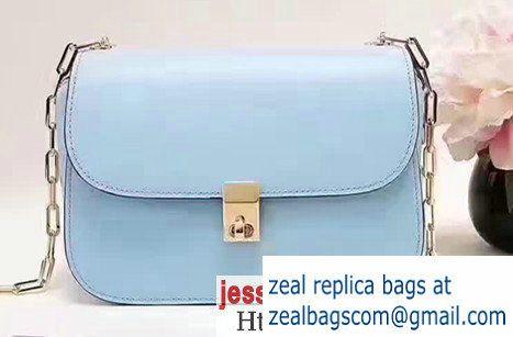 Valentino Garavani Chain Cross Body Bag in Calfskin Light Blue 2017