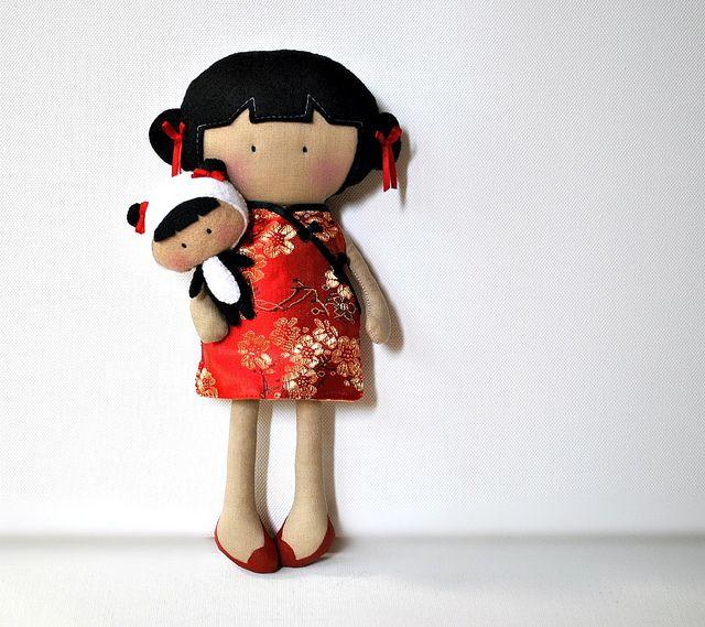 My Teeny-Tiny Doll™ China Doll and Baby MTTD Panda by Cook You Some Noodles, via Flickr