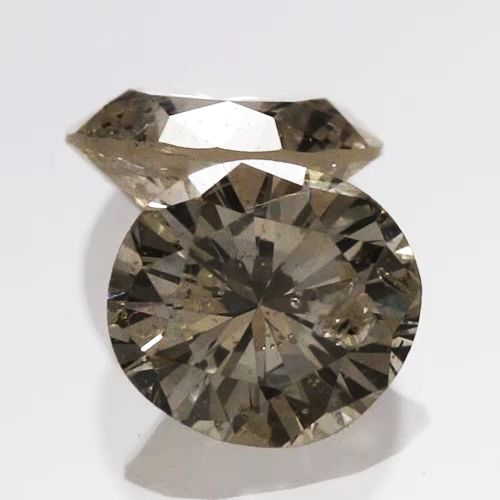 0.075 ctw Round Brilliant Yellow (Y1) I2 Clarity 2.69 mm Natural Loose Diamond