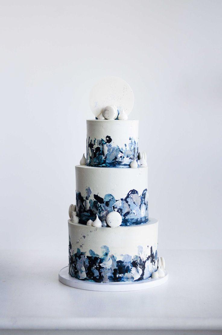 Textured Buttercream Wedding Cake by LionHeart