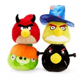 Assortment of Four Angry Birds Halloween Plush Toys $51.96