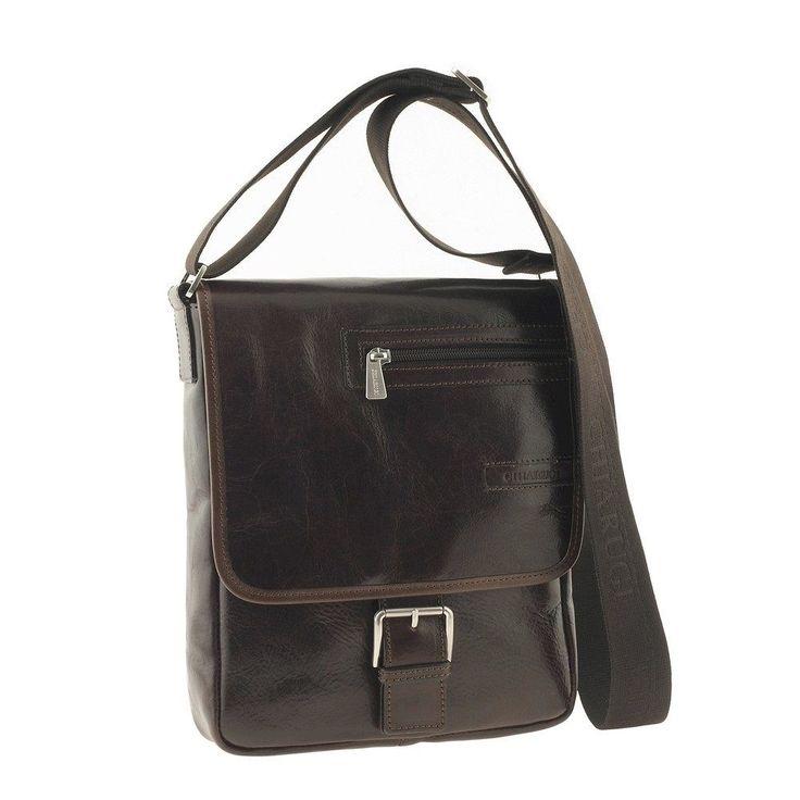 Chiarugi borsa uomo in pelle a mano con manico italian leather man bag borsello