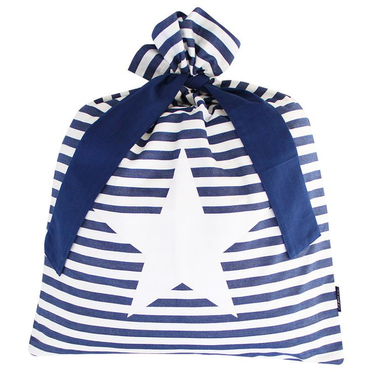 CLASSIC STRIPE SANTA SACK / BLUE STAR
