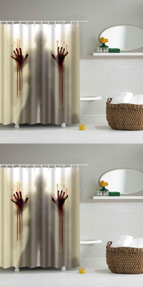 Scarry Shadow Bathroom Mildewproof Waterproof Shower Curtain