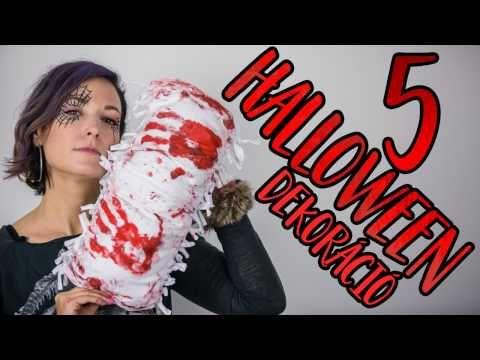 5 rémisztően jó  HALLOWEEN dekoráció   INSPIRÁCIÓK Csorba Anitától - YouTube