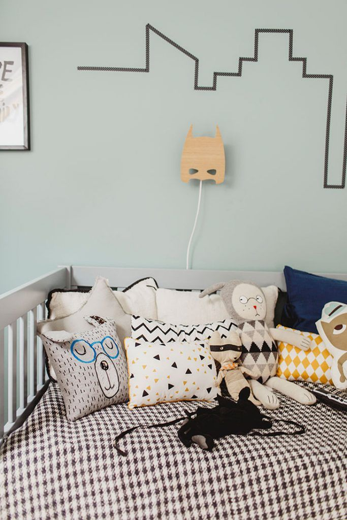 Contemporary boys bedroom in blue stylists cardboard for 3 rooms for 1999