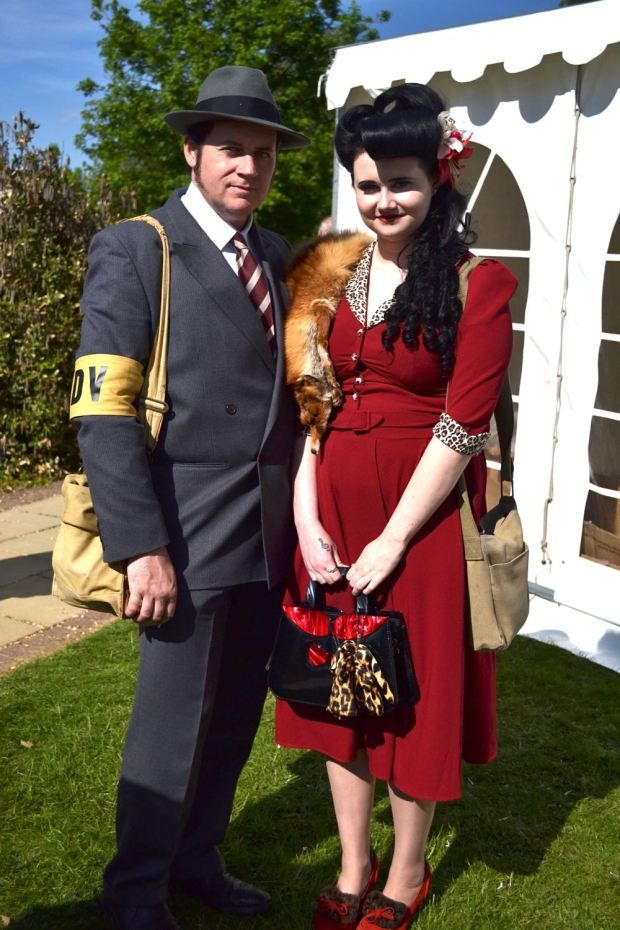 Great outfits at the Bletchley Park 1940s Festival