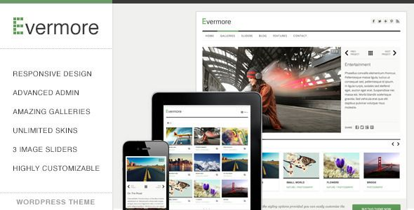 Evermore - Premium Responsive WordPress Theme  #themeforest