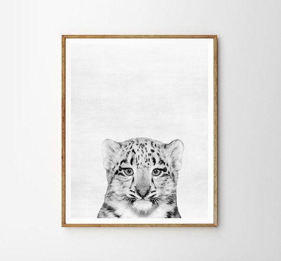 Baby leopard Leopard Nursery decor Animal Kids от WallArt2Decor