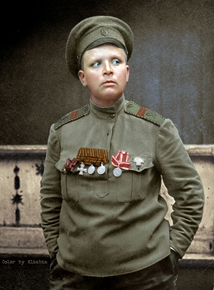"Maria Bochkareva, 1917 | en.wikipedia.org/wiki/Maria_Bochkareva  Командир женского ""батальона смерти"" Мария Бочкарева, 22.11.1917"
