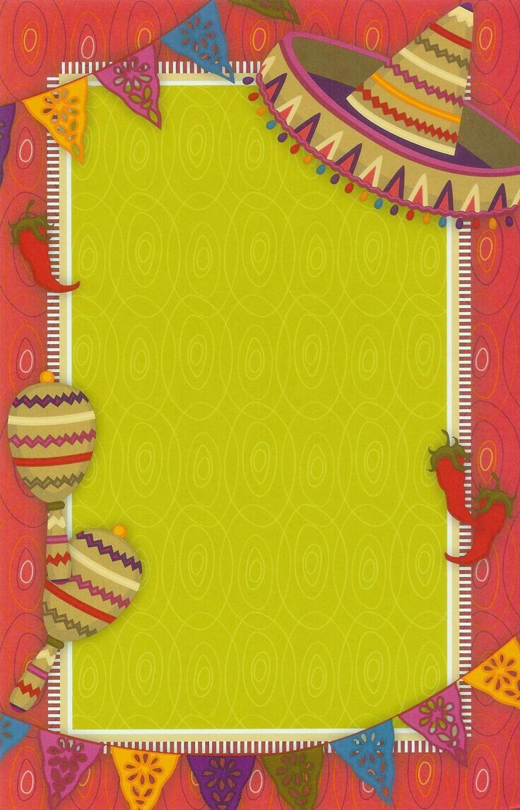 p u00f3ster para notas o invitaci u00f3n de fiesta mexicana