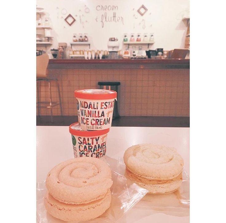 Cream & Flutter, Champaign IL #adventureiseveryday #hometown #champaign #illinois #visitchampaign #favoriteplaces #icecream #macaroon #snacktime #bakery #creamandflutter #shoplocal
