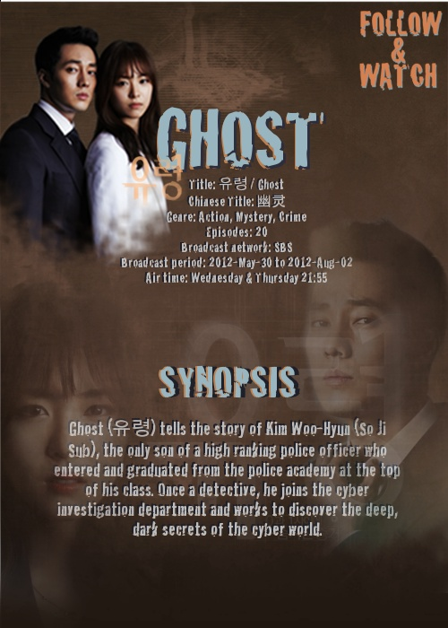 Korean Drama - Ghost.  Just finished watching this one and I really enjoyed it!  Every episode had a great cliffhanger!!