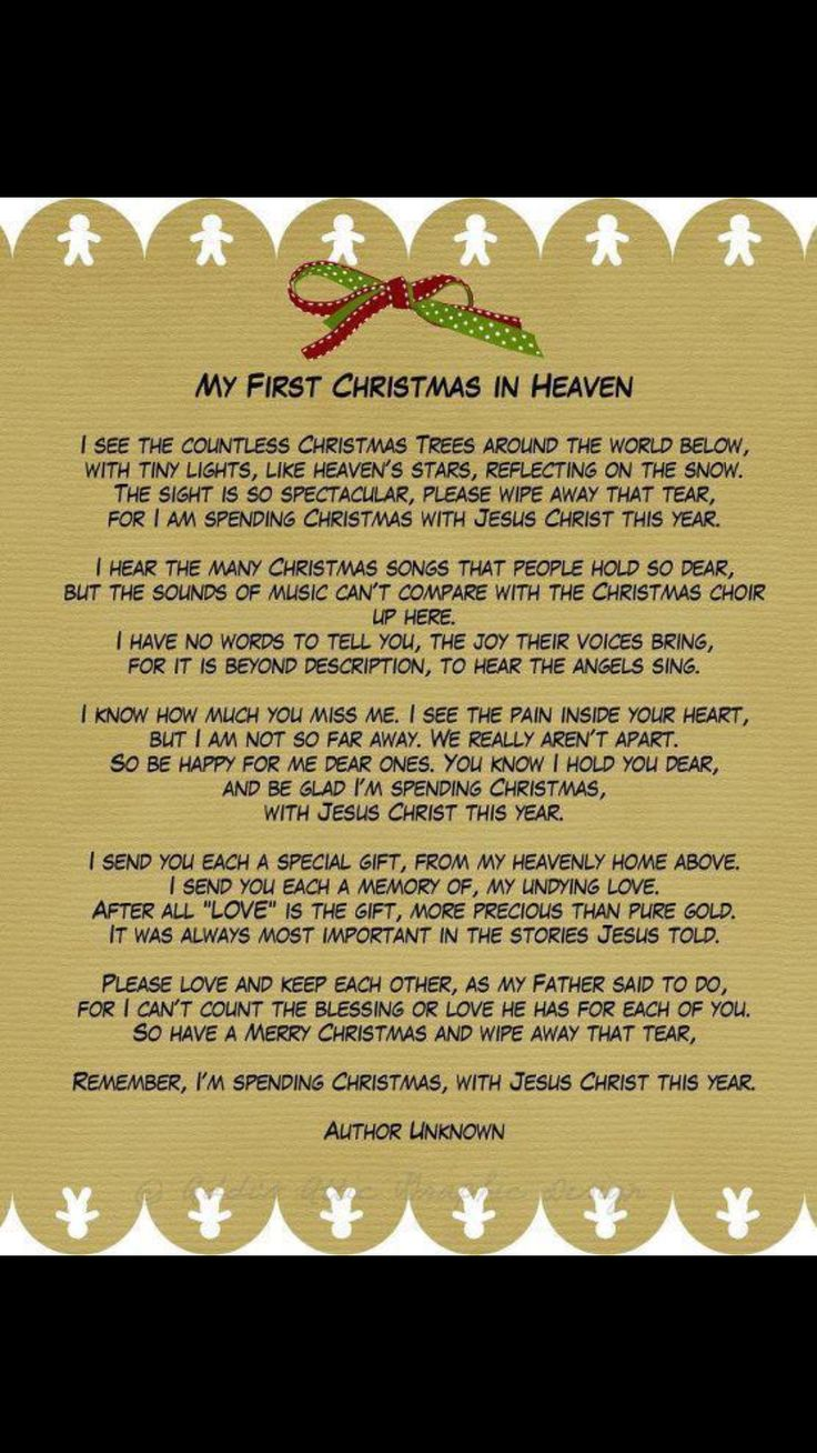 Pin by Betty Reed on Miss You Christmas in heaven