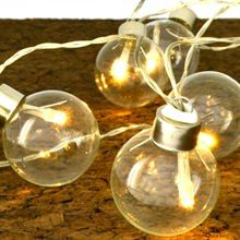 Clear Festival Globe String Lights