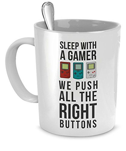 Mug Gamer Gamer Gifts - We push all the right buttons mug...…