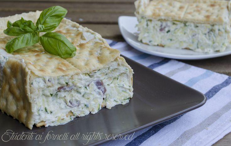 ricetta mattonella salata zucchine e prosciutto ricotta senza cottura ricetta secondo estivo