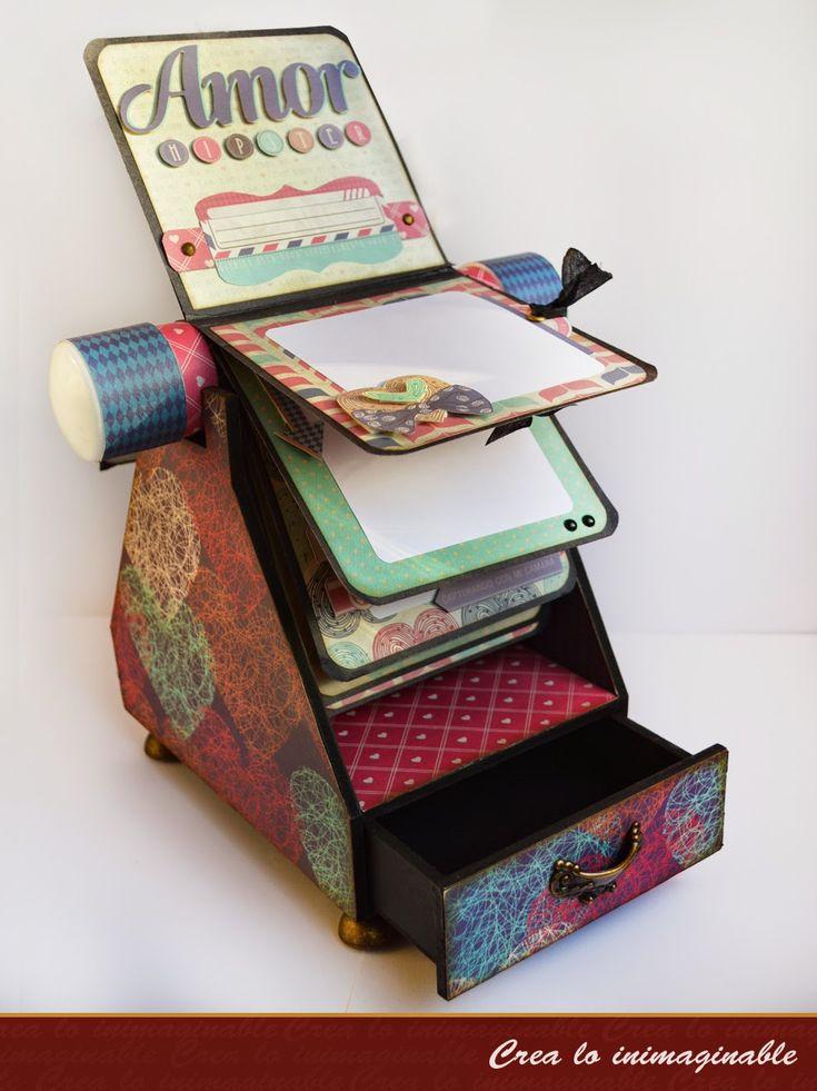 Hermoso proyecto especial de texturarte, con los papeles de la colección Amor Hipster, deja un lindo comentario !!! Emoticono smile #texturarte, Hagamos #scrapbook #scrapbooking #manualidades